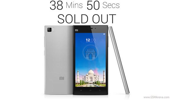 小米MI 3在40分钟内在印度出售