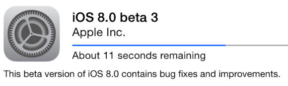 Apple iOS 8 Beta 3现在可用于开发人员