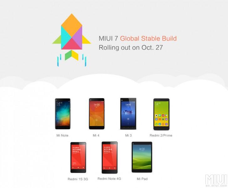 MIUI 7全球稳定ROM现在可供下载