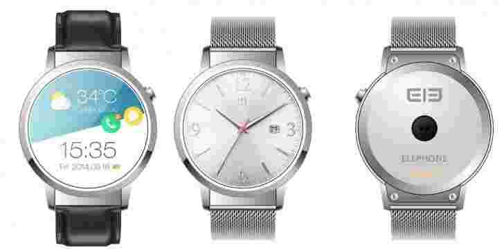 Elephone Ele Smartwatch:经济实惠,圆形,功能包装