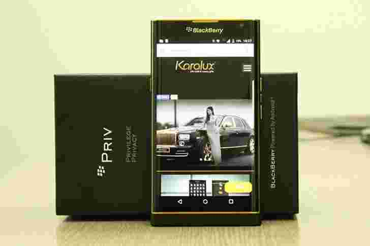BlackBerry Priv获得24K金处理