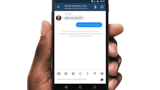 Facebook在Messenger中测试类似的Snapchat般的短信消息功能