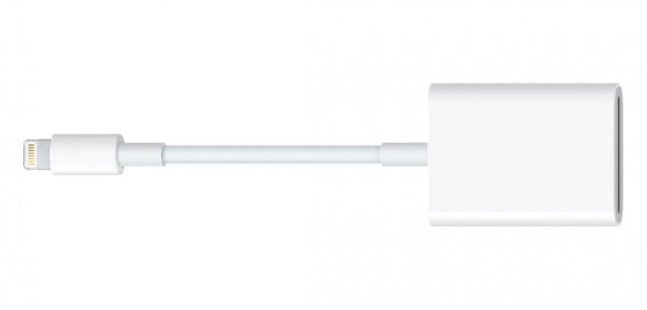 Apple Lightning到SD卡摄像头读卡器更新,以支持iPad Pro上的USB 3.0
