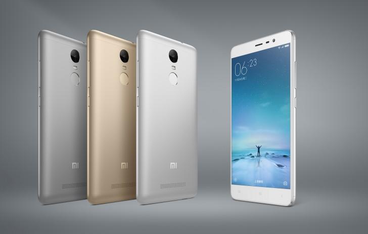 """Xiaomi宣布Redmi注3带5.5""""1080P屏幕,指纹传感器"""