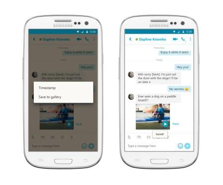 用于Android的Skype更新了增强的搜索和保存视频消息的能力