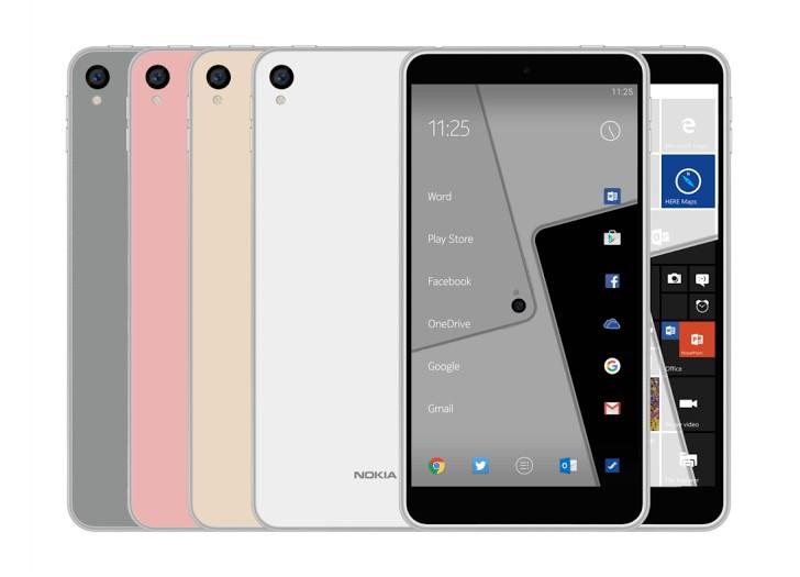 新的渲染声明描述即将到来的诺基亚C1运行Android和Windows 10 Mobile