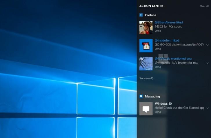 Windows内部人士现在可以使用从手机到PC的通知同步