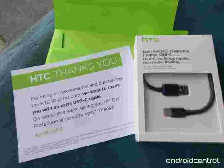 """HTC早期HTC 10采用者的""""令人信服""""是一种USB Type-C电缆"""