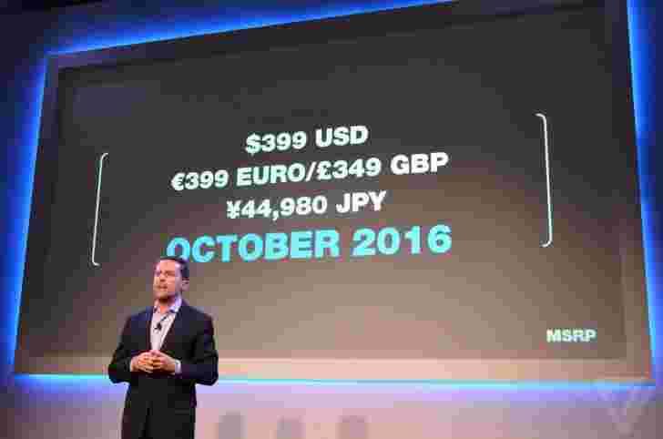 索尼Playstation vr在10月13日推出399美元
