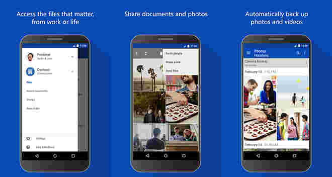 OnedRive的Android客户端现在让您预览您的办公文档