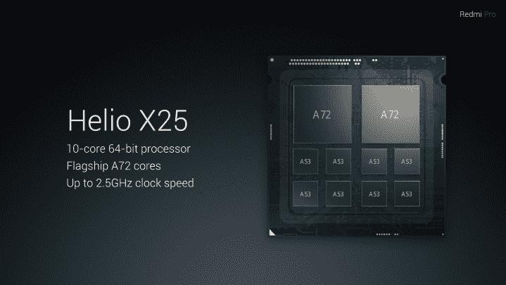 Xiaomi Redmi Pro与Helio X25 SoC,双摄像头设置有官方