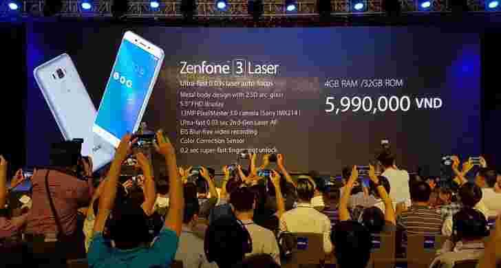 华硕宣布Zenfone 3激光器和Zenfone 3 Max